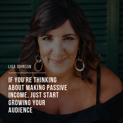Quote Graphic: Building Passive Income by Working Smarter Not Harder with Lisa Johnson